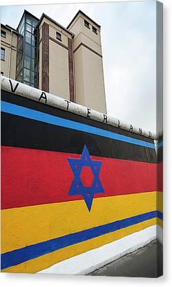 Berlin Wall Canvas Print by Ton Kinsbergen