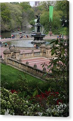 Bethesda Fountain - Central Park Nyc Canvas Print by Christiane Schulze Art And Photography