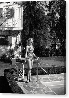 Betty Grable Canvas Print by Silver Screen