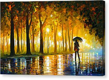 Bewitched Park Canvas Print by Leonid Afremov