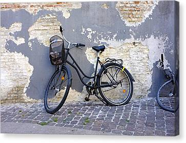 Bicycle Copenhagen Denmark Canvas Print by John Jacquemain