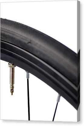 Bicycle Tyre Valve Canvas Print