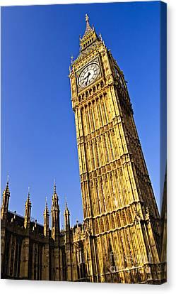 Big Ben Clock Tower Canvas Print by Elena Elisseeva
