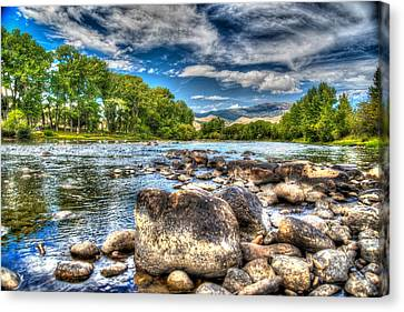 Canvas Print featuring the photograph Big Hole River Divide Mt by Kevin Bone