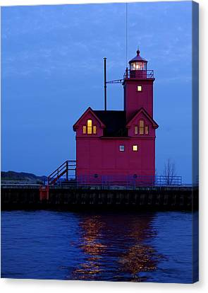 Big Red Light Canvas Print