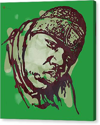 Biggie Smalls Modern Colour Etching Art  Poster Canvas Print by Kim Wang