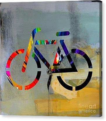 Bike Canvas Print by Marvin Blaine