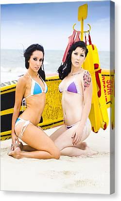 Bikini Girls Canvas Print