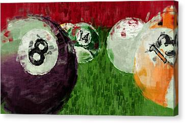 Billiards Abstract Canvas Print by David G Paul