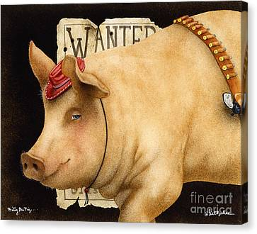 Billy The Pig... Canvas Print by Will Bullas