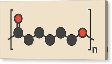 Biodegradable Polymer Molecule Canvas Print by Molekuul