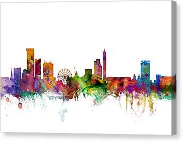 Birmingham England Skyline Canvas Print