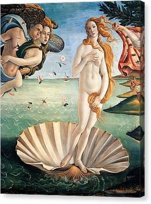 Angel Mermaids Ocean Canvas Print - Birth Of Venus by Sandro Botticelli