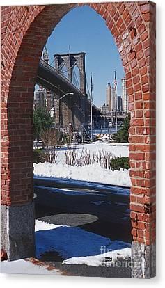 Bklyn Bridge Canvas Print by Bruce Bain