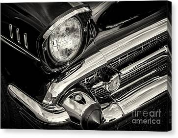 Black '57 Canvas Print by Dennis Hedberg