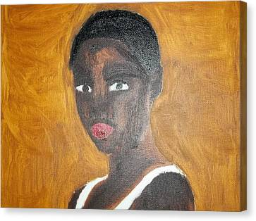 Black African American Woman Of 2013 Canvas Print by William Sahir House