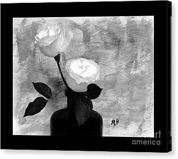 Black And White Rose Canvas Print by Marsha Heiken