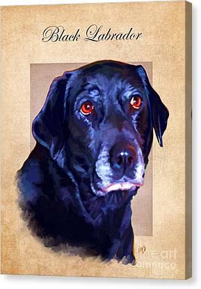 Black Labrador Art Canvas Print by Iain McDonald