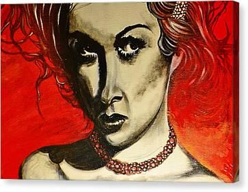 Black Portrait 20 Canvas Print by Sandro Ramani