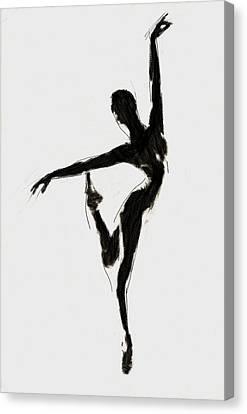 Black Swan Canvas Print by Steve K