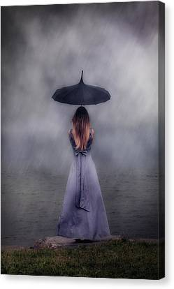 Black Umbrella Canvas Print by Joana Kruse