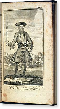 Buccaneer Canvas Print - Blackbeard The Pirate by British Library