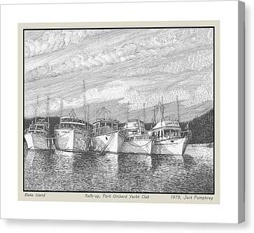Northwest Raft Up Canvas Print by Jack Pumphrey