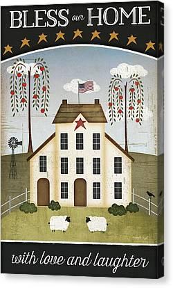 Bless Our Home Canvas Print by Jennifer Pugh