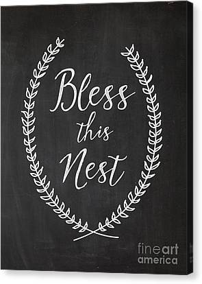 Bless This Nest Canvas Print by Natalie Skywalker