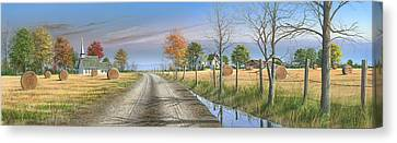 Canvas Print featuring the painting Bless Thy Fertile Soil by Mike Brown