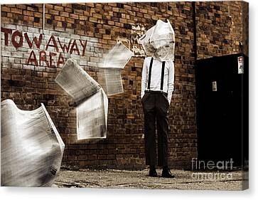 Blinded By The News Headlines Canvas Print