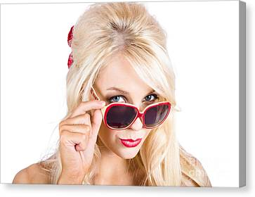 Blond Woman In Sunglasses Canvas Print by Jorgo Photography - Wall Art Gallery