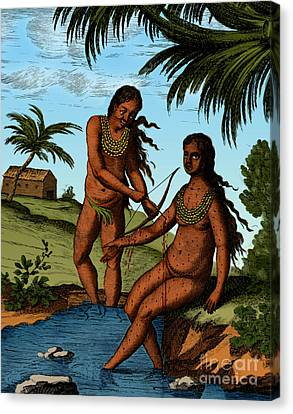 Bloodletting Native Central American Canvas Print by Science Source