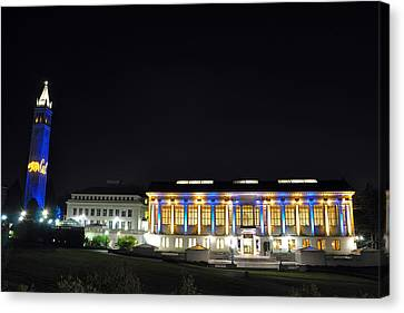 Blue And Gold Campus Canvas Print