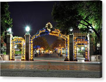 Blue And Gold Sather Gate Canvas Print