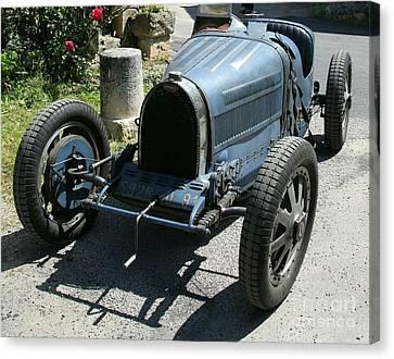Transportion Canvas Print - Blue Bugatti Oldtimer by Christiane Schulze Art And Photography