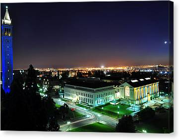Blue Campanile And Doe Library Canvas Print