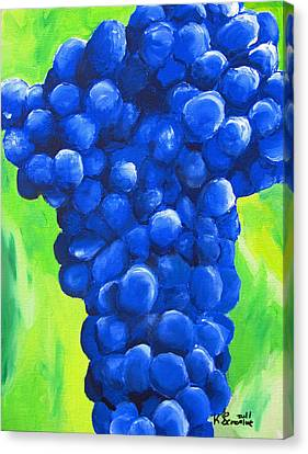 Blue Cluster Canvas Print by Kayleigh Semeniuk