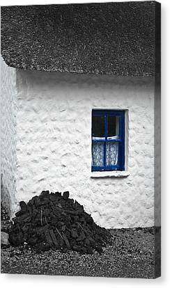 Blue Cottage Window Canvas Print by Jane McIlroy
