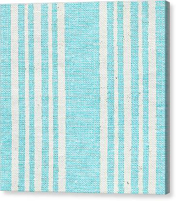 Blue Fabric Canvas Print by Tom Gowanlock