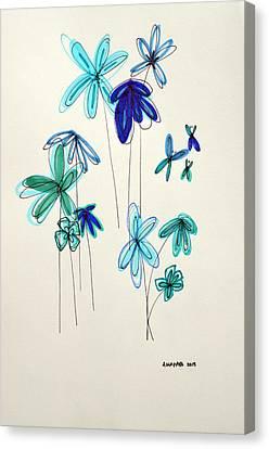 Blue Flowers Canvas Print by Patricia Awapara