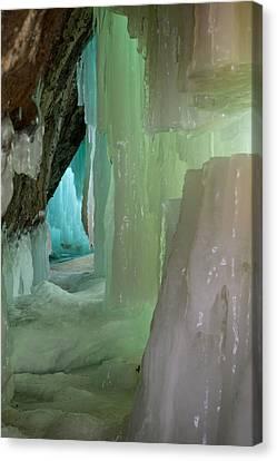 Blue Green Ice Canvas Print