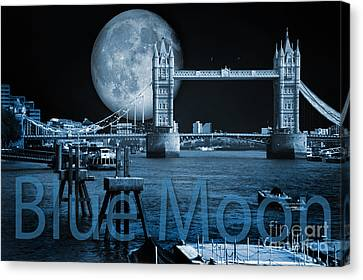 Blue Moon Canvas Print by Donald Davis