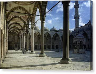 Islam Canvas Print - Blue Mosque Courtyard by Joan Carroll