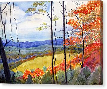 Blue Ridge Mountains Of West Virginia Canvas Print by Katherine Miller
