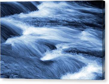 Blue Stream Canvas Print by Les Cunliffe