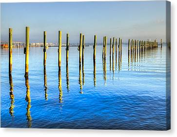 Fort Pierce Canvas Print - Blue Tide by Debra and Dave Vanderlaan