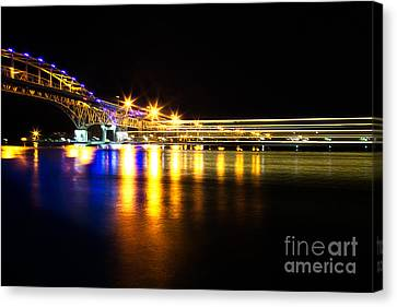 Blue Water Bridge Canvas Print by Todd Bielby
