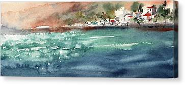 Blue Water Canvas Print by Sophia Rodionov