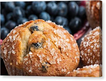 Blueberry Muffins Canvas Print by Brandon Bourdages